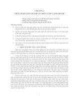 Tài liệu Chương 6: Phân tích cạnh tranh và chiến lược cạnh tranh ppt