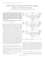 Single phase uninterruptible power supply based on z source inverter