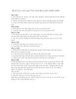 Tài liệu Đề thi học sinh giỏi Tỉnh Hòa Bình môn Sinh pdf