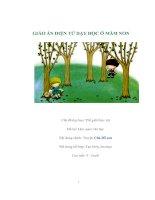 Tài liệu GIÁO ÁN ĐIỆN TỬ DẠY HỌC Ở MẦM NON - Chủ đề dạy học: Thế giới thực vật - Lứa tuổi: 4 - 5 tuổi pdf