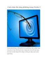 Tài liệu Cách chặn tấn công phishing trong Firefox 3 ppt