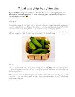 Tài liệu 7 loại quả giúp bạn giảm cân ppt