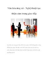 Tài liệu Văn hóa ứng xử - Nghệ thuật tạo thiện cảm trong giao tiếp pdf
