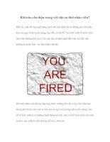 Tài liệu Khi nào cần thận trọng với việc sa thải nhân viên? doc