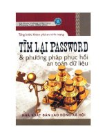 Tìm lại password và phương pháp hồi phục an toàn dữ liệu