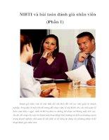 Tài liệu MBTI và bài toán đánh giá nhân viên (Phần 1) ppt