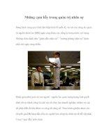Tài liệu Những cạm bẫy trong quản trị nhân sự pdf