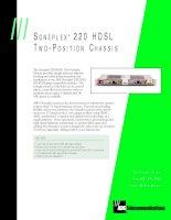 Tài liệu SONEPLEX 220 HDSL TWO -POSITION CHASSIS pdf