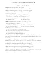 Tài liệu Tài liệu trắc nghiệm hóa học Vấn đề 6 :Ancol phenol pptx