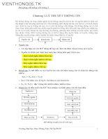 Tài liệu Bài giảng hệ thống viễn thông 2 - Chương 1: Lý thuyết thông tin pptx