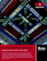 Global perspectives on governance: lessons from east and west