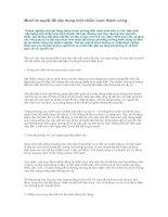 Tài liệu Mười bí quyết để xây dựng một chiến lược thành công pdf