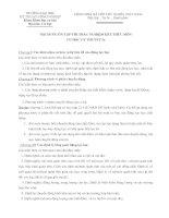 Tài liệu NỘI DUNG ÔN TẬP THI TRẮC NGHIỆM KẾT THÚC MÔN CƠ HỌC LÝ THUYẾT 2a pptx