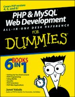 For dummies PHP and MySQL web development all in one desk reference for dummies