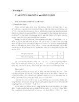 Tài liệu TOÁN ỨNG DỤNG - Chương IV PHÂN TÍCH MARKOV VÀ ỨNG DỤNG pdf