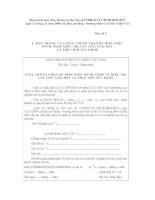 Tài liệu Mẫu giấy chứng nhận đủ điều kiện hành nghề điều trị cắt cơn giải độc và phục hồi sức khỏe ppt