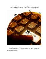 Tài liệu Thiết kế Brochure thế nào để đạt hiệu quả cao? docx