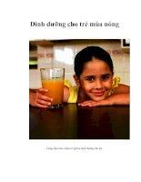 Tài liệu Dinh dưỡng cho trẻ mùa nóng doc