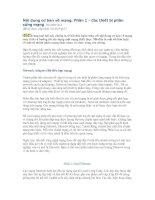 Tài liệu Nội dung cơ bản về mạng: Phần 1  Các thiết bị phần cứng mạng docx