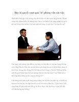 Tài liệu Bảy bí quyết vượt qua ''''ải'''' phỏng vấn xin việc pdf