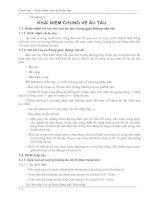 Tài liệu Chương 1: Khái niệm chung về âu tàu docx