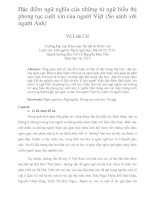 Đặc điểm ngữ nghĩa của những từ ngữ biểu thị phong tục cưới xin của người việt (so sánh với người anh)