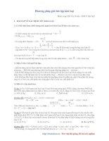 Tài liệu Phương pháp giải bài tập kim loại (Hồ Chí Tuấn - ĐH Y HN) pdf