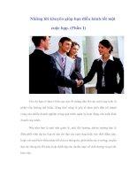 Tài liệu Những lời khuyên giúp bạn điều hành tốt một cuộc họp. (Phần 1) ppt