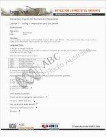 Tài liệu Tiếng Anh Du Lịch - Exercises 2 docx