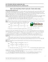 Tài liệu Một số phương pháp giải bài toán hóa học_GV Vũ Phấn docx