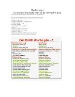 Tài liệu Marketing - sử dụng công nghệ thông tin pdf