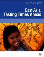 Tài liệu Bản báo cáo cùa World Bank về tình hình Đông Nam Á tháng 4 năm 2008 ppt
