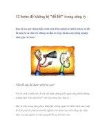 Tài liệu 12 bước để không bị đổ lỗi trong công ty doc