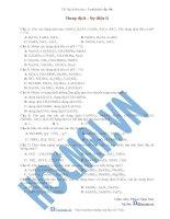 Tài liệu (Luyện thi cấp tốc Hóa) Trắc nghiệm và đáp án Sự điện ly docx