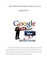 Tài liệu Kỹ thuật marketing website qua thủ pháp SEO ppt