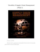 Tài liệu Tìm hiểu về Supply Chain Management (Phần 2) docx