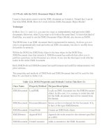 Tài liệu Work with the XML Document Object Model pdf