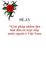 """Tài liệu Đề án """"Giải pháp nhằm thu hút đầu tư trực tiếp nước ngoài ở Việt Nam doc"""