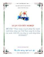 """Tài liệu LUẬN VĂN """"Thực trạng và giải pháp đẩy mạnh xuất khẩu nông sản Việt Nam sang thị trường các nước ASEAN của công ty xuất nhập khẩu INTIMEX"""" ppt"""