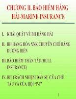 Tài liệu Bài giảng bảo hiểm hàng hải Chương 2 docx