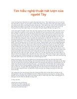 Tài liệu Tìm hiểu nghệ thuật hát lượn của người Tày pptx