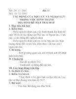 Tài liệu Địa lý lớp 6 bài 11 docx