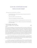 Tài liệu QUẢN TRỊ CHI PHÍ KINH DOANH TRONG DOANH NGHIỆP Nội dung chương này đề cập đến pptx