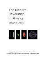 The modern revolution in physics