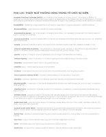 Tài liệu THUẬT NGỮ THƯỜNG DÙNG TRONG TỔ CHỨC SỰ KIỆN Accepted Practices Exchange ppt
