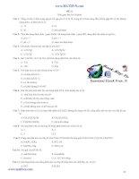 30 đề thi thử đại học môn hoá có lời giải chi tiết