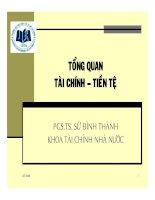Tài liệu Tổng quan tài chính- tiền tệ doc