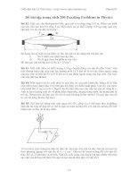 Tài liệu Đề bài tập trong sách 200 Puzzling Problems in Physics docx