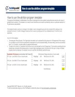 Tài liệu How to use the attrition program template docx