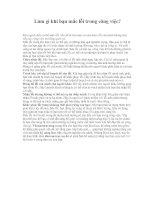 Tài liệu Làm gì khi bạn mắc lỗi trong công việc? pdf